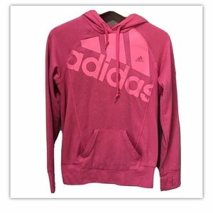 Adidas Girls Pink Hoodie Pullover Size Small